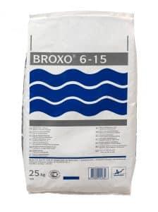 Een witte 25 kilogram zak Broxo onthardingszout