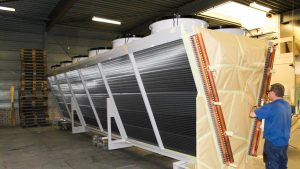 Het coaten van een complete installatie in een industriële hal